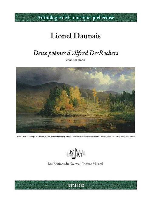 DAUNAIS, Lionel (1901-1982) - Deux poèmes d'Alfred DesRochers