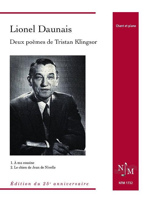 DAUNAIS, Lionel (1901-1982) - Deux poèmes de Tristan Klingsor
