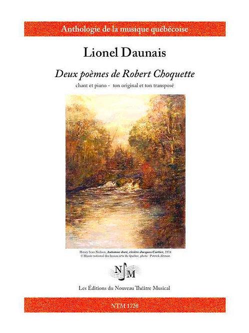 DAUNAIS, Lionel (1901-1982) - Deux poèmes de Robert Choquette