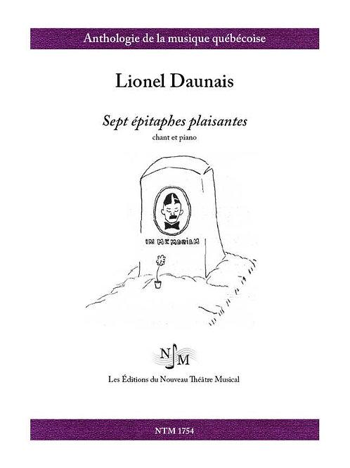 DAUNAIS, Lionel (1901-1982) - Sept épitaphes plaisantes