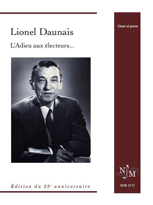 DAUNAIS, Lionel (1901-1982) - L'Adieu aux électeurs