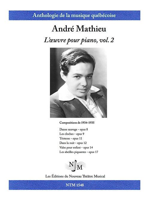 MATHIEU, André (1929-1968) - L'Oeuvre pour piano volume 2