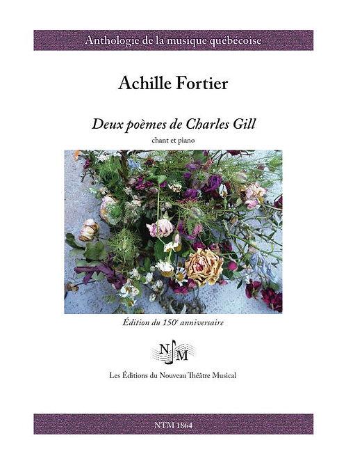 FORTIER, Achille (1864-1939) - Deux poèmes de Charles Gill
