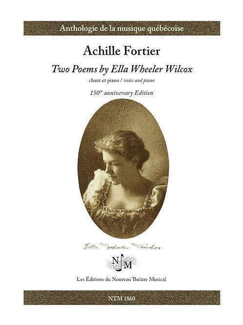FORTIER, Achille (1864-1939) - Two poems by Ella Wheeler Wilcox
