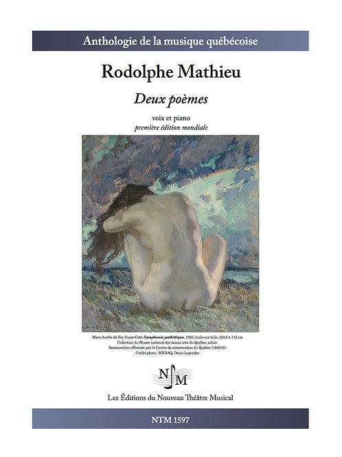 MATHIEU, Rodolphe - Deux poèmes - pour voix et piano