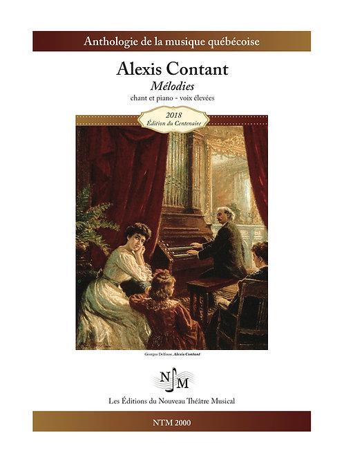 CONTANT, Alexis - Mélodies - tonalités originales, voix élevées