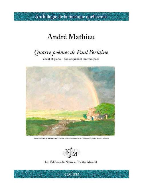 MATHIEU, André (1929-1968) - Quatre poèmes de Paul Verlaine