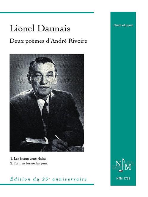 DAUNAIS, Lionel (1901-1982) - Deux poèmes d'André Rivoire