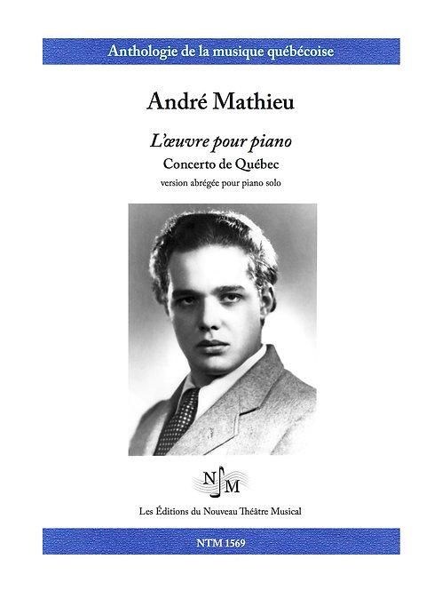 MATHIEU, André (1929-1968) - Concerto de Québec