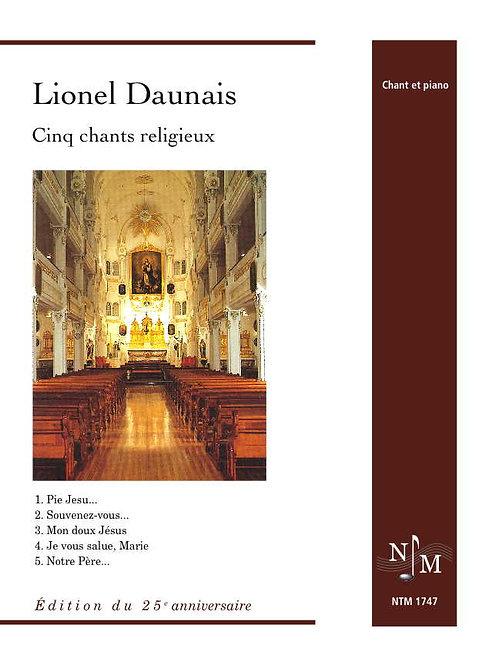 DAUNAIS, Lionel (1901-1982) - Cinq chants religieux