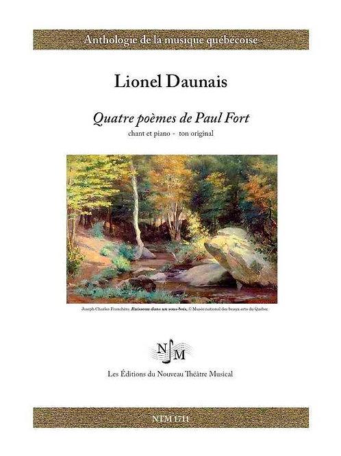 DAUNAIS, Lionel (1901-1982) - Quatre poèmes de Paul Fort