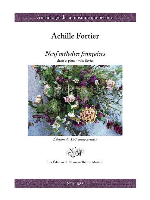 FORTIER, Achille (1864-1939) - Neuf mélodies françaises
