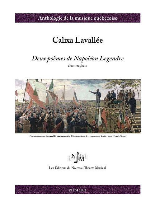 LAVALLÉE, Calixa (1842-1891) - Deux poèmes de Napoléon Legendre