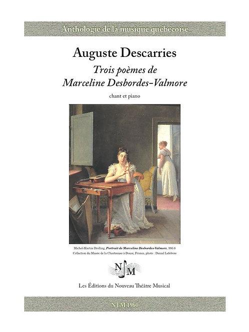DESCARRIES, Auguste (1896-1958) - Trois poèmes de Marceline Desbordes-Valmore