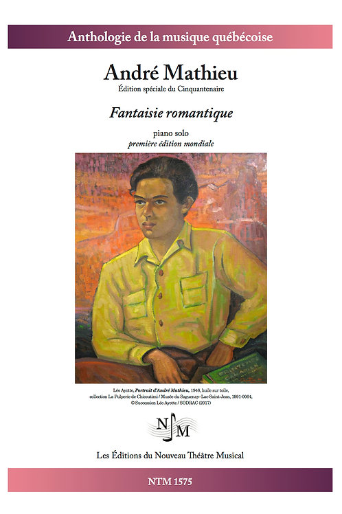 MATHIEU, André - Fantaisie romantique - pour piano - inédit