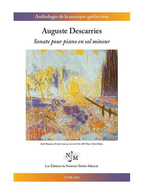 DESCARRIES, Auguste - Sonate pour piano en sol mineur