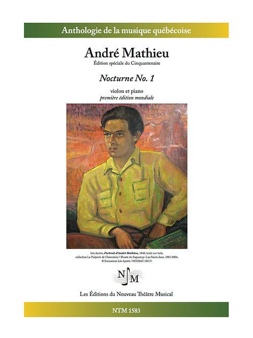 MATHIEU, André - Nocturne no 1 - pour violon et piano