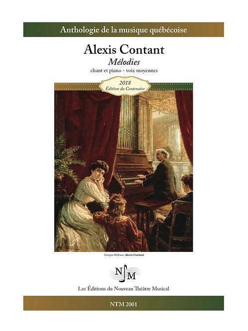 CONTANT, Alexis - Neuf mélodies - tonalités transposées, voix moyennes