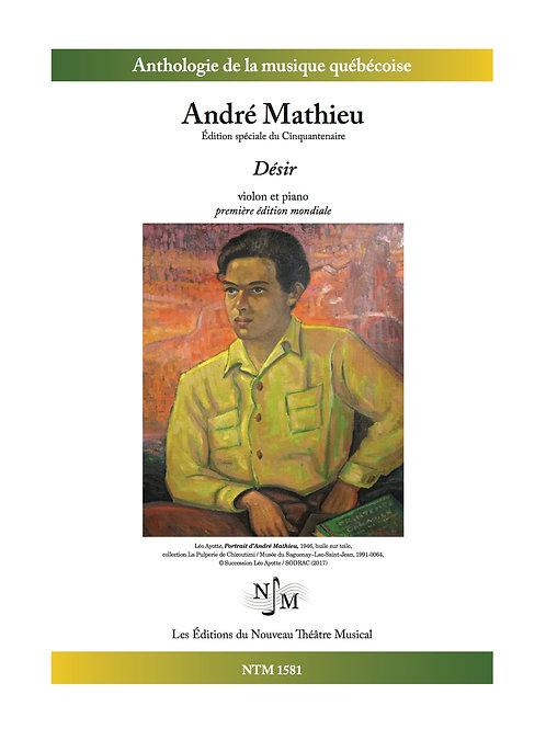 MATHIEU, André - « Désir » pour violon et piano
