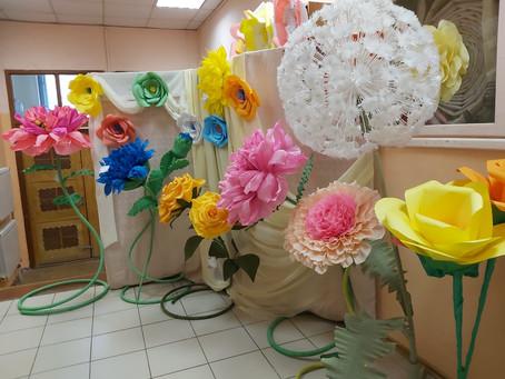 Выставка цветов в Дошкольном отделении