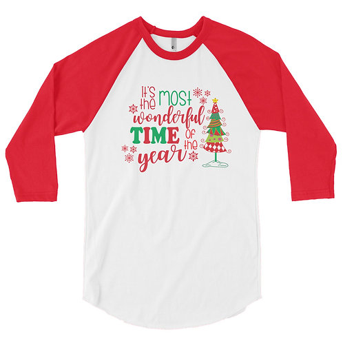 It's the Most Wonderful Time of the Year, 3/4 sleeve raglan shirt