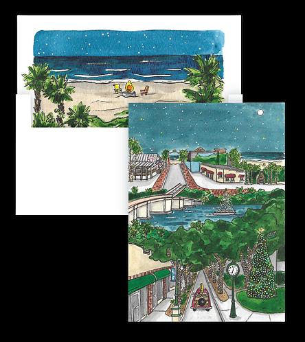 Christmas in New Smyrna Beach Holiday Card