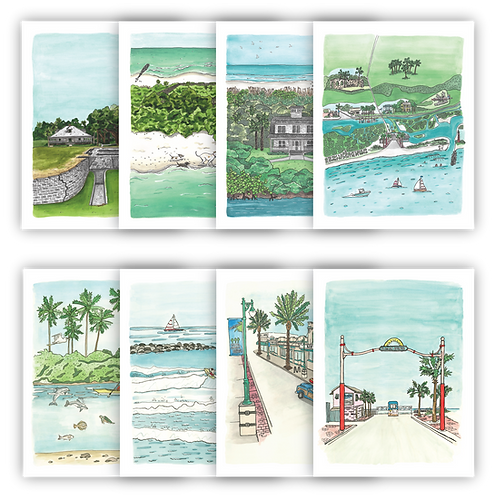 New Smyrna Beach Notecard Set of 8
