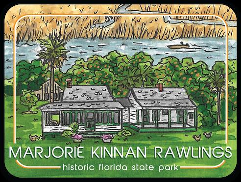 Marjorie Kinnan Rawlings Historic Florida State Park Sticker