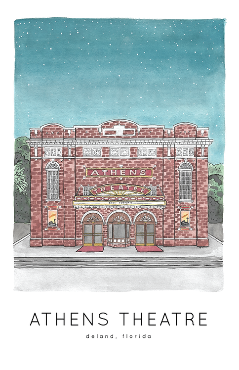 Athens Theatre Print