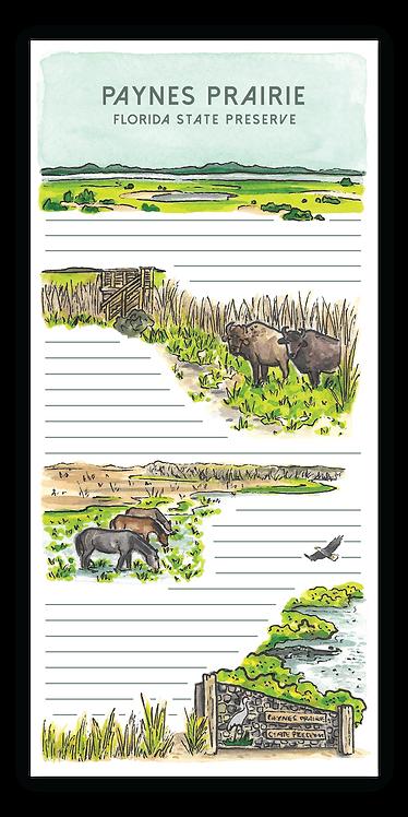 Paynes Prairie Preserve Notepad