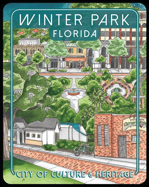 Winter Park Florida Travel Sticker
