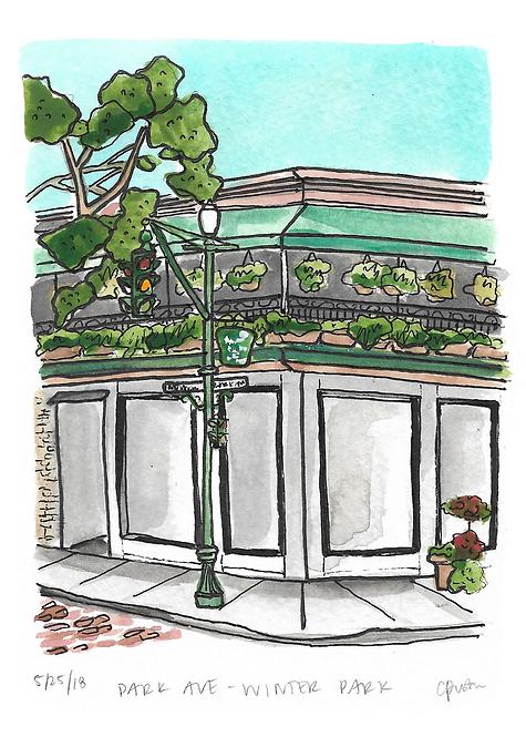 Park Ave & New York Original Painting