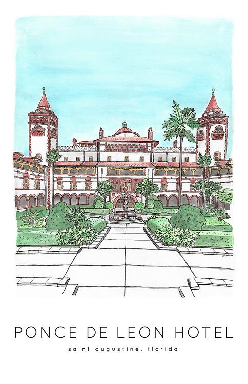 Ponce de Leon Hotel Print