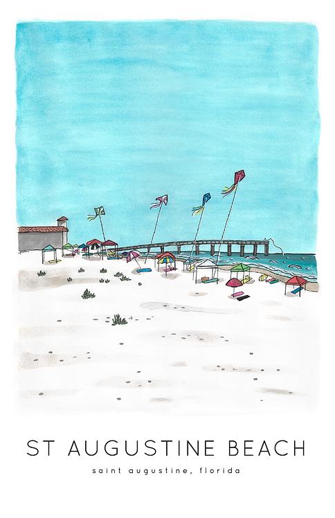 St. Augustine Beach Print