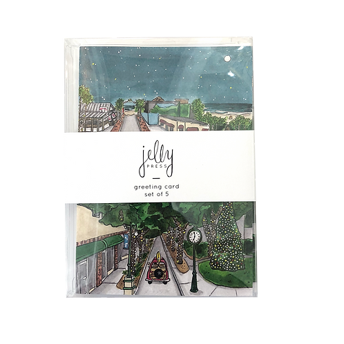Set of 5 Christmas in New Smyrna Beach Holiday Cards