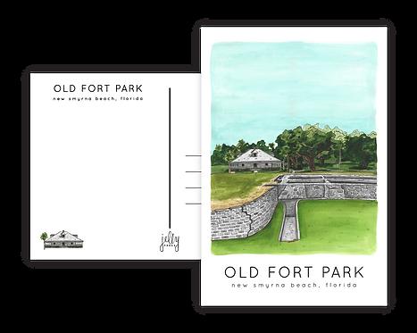 Old Fort Park Postcard