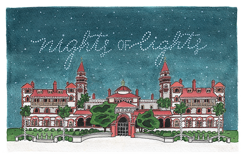 Nights of Lights, Flagler College Print