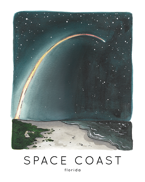 Space Coast Print