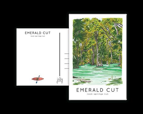 Emerald Cut Rock Springs Run Postcard