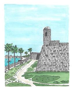 Castillo de San Marcos Original Painting