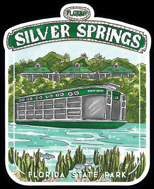 Silver Springs Florida State Park Sticker
