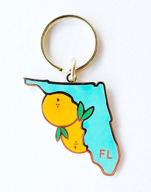 Florida Enamel Keychain