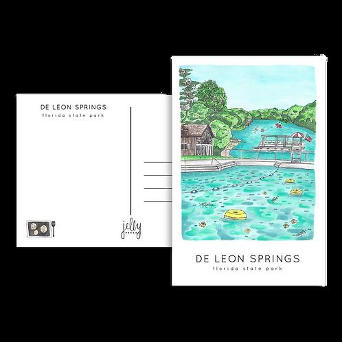 De Leon Springs State Park Postcard