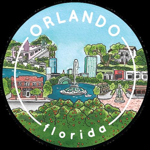 Orlando Travel Sticker