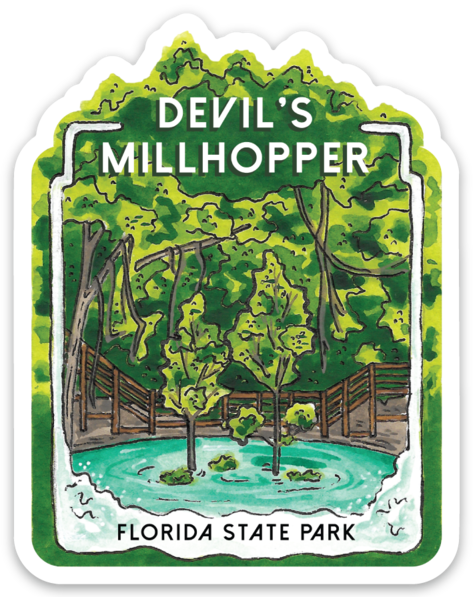 Devil's Millhopper Florida State Park Sticker