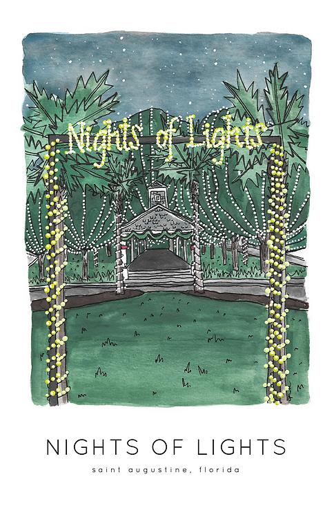 Nights of Lights St. Augustine Print
