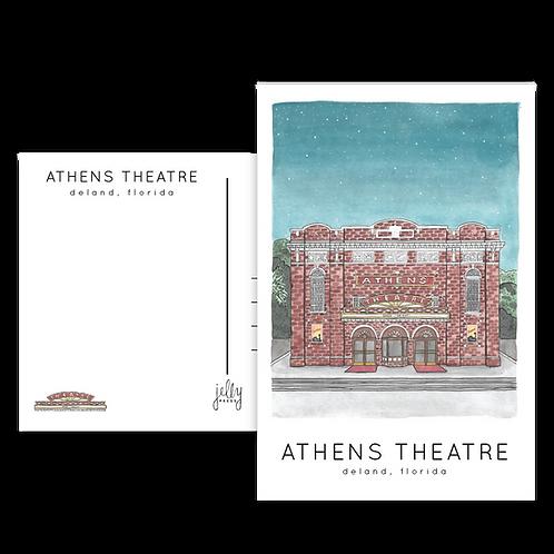 Athens Theatre Postcard
