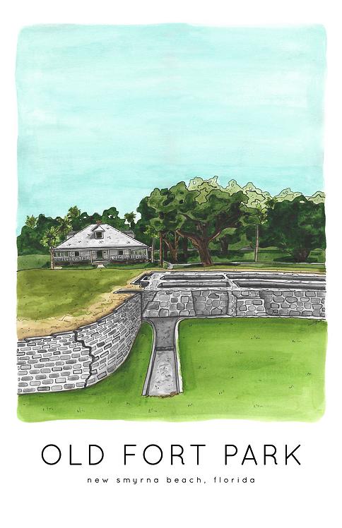 Old Fort Park Print