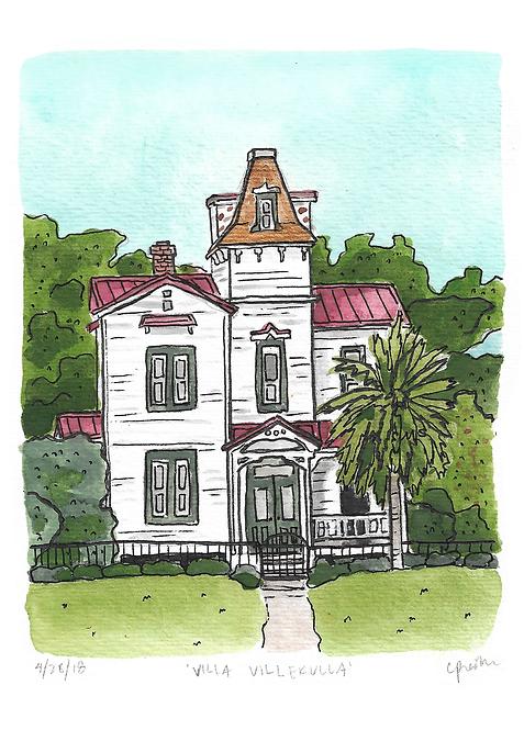 Villa Villekulla Original Painting