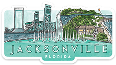Jacksonville Travel Sticker